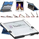 Touchfire Ultra-Protective Case, 3-D Keyboard, Sound Booster & Magnetic Mount for iPad 2, 3, 4 - Blue