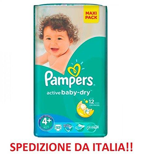 Pampers Active Baby-Dry Lot de 53 langes pour enfant 9 – 16 kg