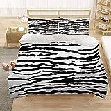 Bedclothes-Blanket Chicas Duvet Cover Set King 220x230 cm Animal Tiger 3D Pattern 3 Piezas Conjunto de Ropa de Cama Microfibra Cubierta de edredón con 2 pillowcasas, para niños Adultos-6_220 * 240 cm