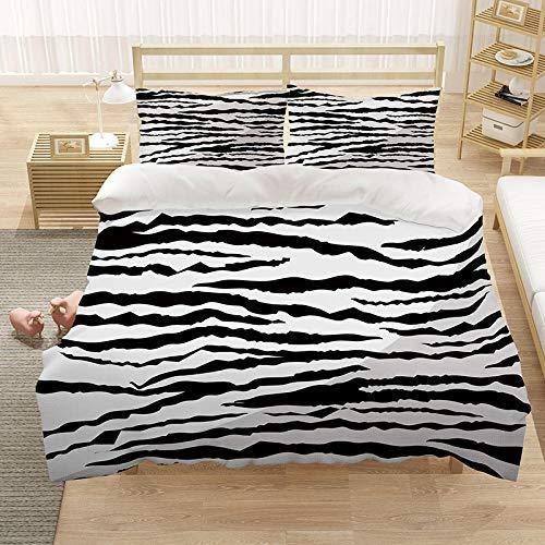 Bedclothes-Blanket Chicas Duvet Cover Set King 220x230 cm Animal Tiger 3D Pattern 3 Piezas Conjunto de Ropa de Cama Microfibra Cubierta de edredón con 2 pillowcasas, para niños Adultos-6_200 * 229cm