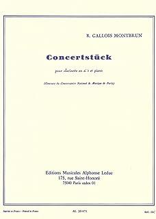 ガロワ=モンブラン : 演奏会用小品 コンチェルトシュトゥック (クラリネット、ピアノ) ルデュック出版