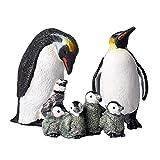 FLORMON Figuras de Animales 7 Piezas Realista Pingüino Modelo de acción El plastico Animal Salvaje Juguetes de Fiesta favores Juguetes educativos de la Granja Forestal Regalo para niños