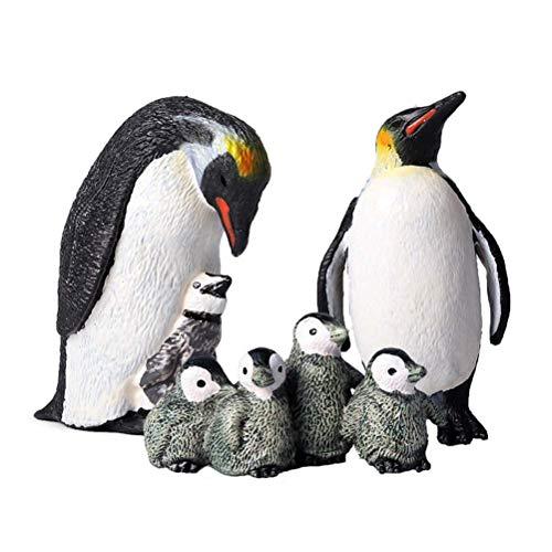 FLORMOON Pinguin Figur - 7st Realistisch fischfigue Tierfiguren - Lernspielzeug Weihnachten Geburtstag Geschenk Cake Topper Lehrer Belohnungen Weihnachten Geburtstagsgeschenk für Kinder