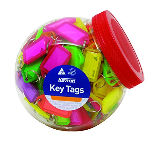 Assorted Coloured Key Rings with Click tabs to Keep Keys Secure
