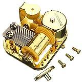 Pursuestar 18 Note Gold Plated Windup Musical Mechanism Movement DIY Clockwork Music Box with Key Screws - You are My Sunshine