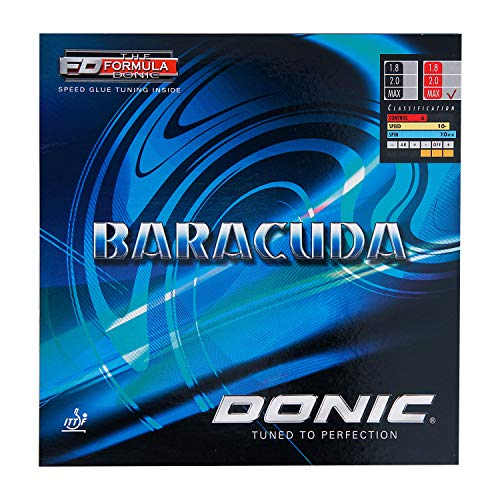 Great Deal! DONIC Baracuda Table Tennis Rubber (Red, 2.0)