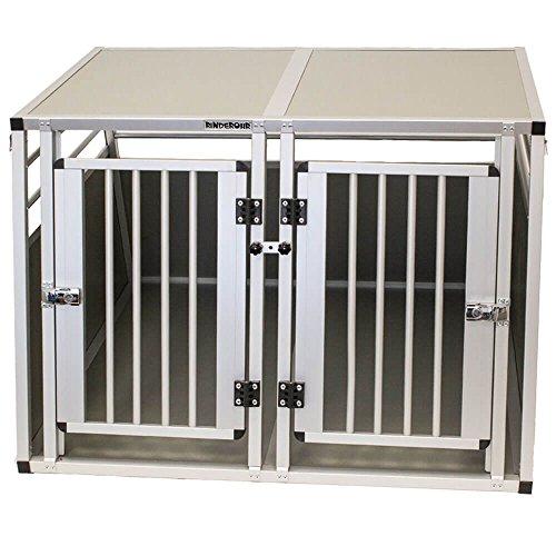 Rinderohr Hundebox - Alubox - Transportbox XXL mit Doppeltür