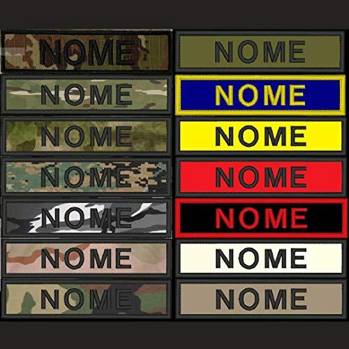 Parche de 12x 3cm con velcro y nombre bordado, para ejército y airsoft. Personalizable