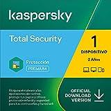 Kaspersky Total Security 2021   1 Dispositivo   2 Años   PC / Mac / Android   Código de activación enviado por email