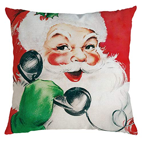 BBQQ Christmas Cushion Cover Home Decor Cushion Cover Family Throw Christmas Decorations Clearance Tree Ornaments Skirt Topper Lights Pyjamas for Family