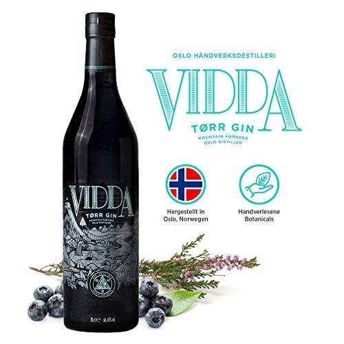 Vidda Torr Dry Gin aus Norwegen | Premium Gin mit 11 Nordic Botanicals | Small Batch Manufaktur | 1x 0,7l