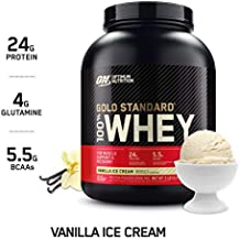 OPTIMUM NUTRITION GOLD STANDARD 100% Whey Protein Powder, Vanilla Ice Cream, 5 Pounds (Packaging May Vary)