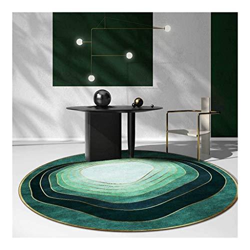 YU- c Moderne Ronde Tapis de Chambre Mode Émeraude Vert Bord d