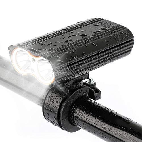 LED-Fahrradbeleuchtung 2400 Lumen Cree XML-T6 LED USB wiederaufladbar, wasserdichtes Radfahren Fahrradscheinwerfer Front- und MTB-Licht, für Nachtreiten