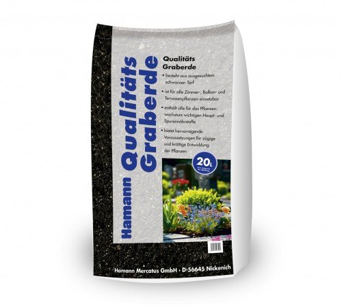 Qualitäts-Graberde 20 l Sack zur dekorativen Garten- und Grabgestaltung 12kg