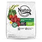 NUTRO NATURAL CHOICE Healthy Weight Adult Dry Dog Food, Lamb & Brown Rice Recipe Dog Kibble, 30 lb. Bag