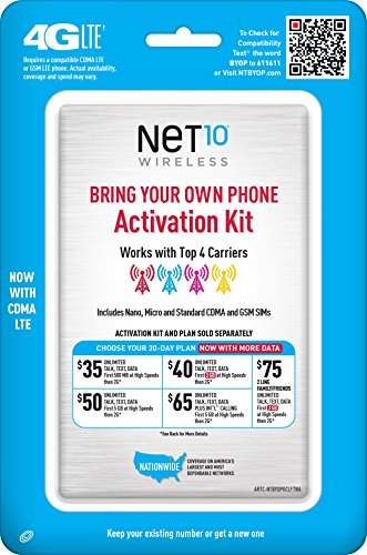 Net10 Bring Your Own Phone SIM Activation Kit