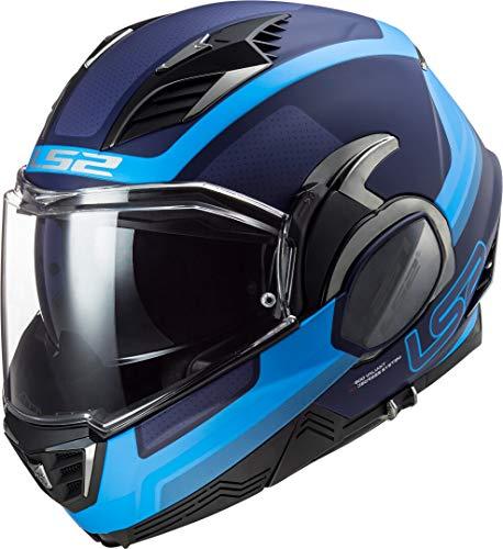 LS2 Valiant II Orbit Casco de Moto, Hombre, Azul Mate, XL