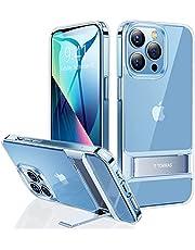 TORRAS 全透明 iPhone 13 Pro Max 用ケース 6.7インチ スタンド付き 3WAY置き対応 角度調整可能 超耐衝撃 アイフォン13ぷろまっくす 用カバー クリア MoonClimber