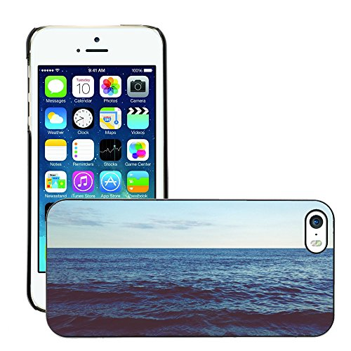 Carcasa Funda Case // M00421573 Onde mare oceano Horizon Sky // Apple iPhone 5 5S 5G