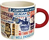 Presidential Slogan Coffee Mug - From 'Tippecanoe and Tyler Too' to 'Yes We Can' - Comes in a Fun Gift Box