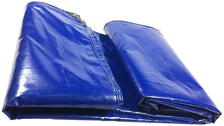ZX タープ ターポリン ヘビー級 アウトドア ボート キャンプルーフスイミングプール 防雨 日焼け止め アンチフリーズ テント アウトドア (Color : 青, Size : 5x10m)