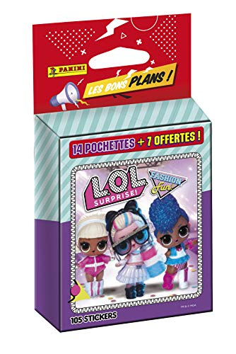 Panini France SA-Blister 14 Pochettes + 7 offertes OP Les Bons Plans LOL Surprise Fashion Fun, 003876KBF21
