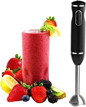 Immersion Hand Blender - with Whisk Powerful 300- Watt - Stick Blender Hand Mixer Set Stainless Steel Shaft & Blades - by Moss And Stone (2 Speed)