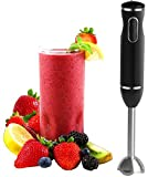 Hand Blender - With Egg Whisk Powerful 300- Watt - Stick Blender, Hand Mixer Set Stainless Steel Shaft & Blades, Handheld Blender With Ergonomic Handle - by Moss And Stone