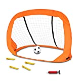 Akokie Cage de Foot Pop-up But de Foot avec Un Mini Football Goal Foot Jouet de Football pour Les Enfant 3+