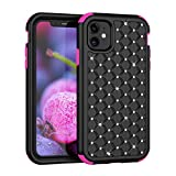Specifically designed for iPhone 11 (6.1 inch) 2019 Model case only, the case without screen protector. Made from Polycarbonate hard back cover with crystal rhinestones + flexible Silicone inner core three layer protection from drops, scratches and c...