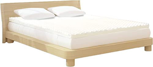 Milliard 2-Inch Egg Crate Ventilated Memory Foam Mattress Topper, Twin