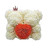 """Gravere 10""""X 11,8"""" Rose Orso Fiore Coppie Con Cuore, Deluxe 550 Fiori Artificiali Orsacchiotto Rosa Perfetto Per Anniversario, Compleanni, Docce Nuziali, Matrimonio cost-effective"""