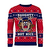 London Co. Taz Mania Naughty Not Nice Red Knitted