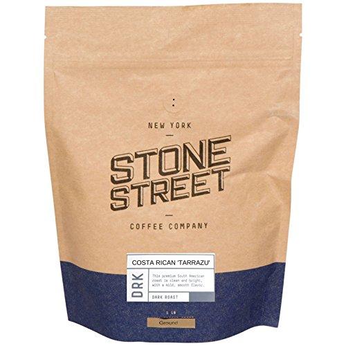 DARK COSTA RICAN TARRAZU Ground Coffee   1 LB Bag   Volcanic Soil - Single Origin Grown   French Roast   Full & Well-Balanced Smooth Body
