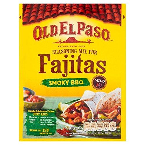 Old El Paso Fajita Gewürz Mix Original Rauch Grill 35 g (6 Stück)