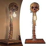 KCRPM Skull Skeleton Lamp - The Carnival of Skeletons, Halloween Handmade Exquisite Horror Skeleton Lamp, LED Skull Lamp for Horror Haunted House Party Ornament Prop, Table Lamp Statue Decor