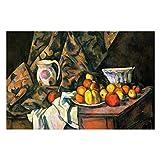 Paul Cezanne Still Life With Manzanas y Melocotones Puzzles para adultos, 1000 piezas de rompecabezas para niños, regalo para niños y niñas, 50,8 x 76,2 cm