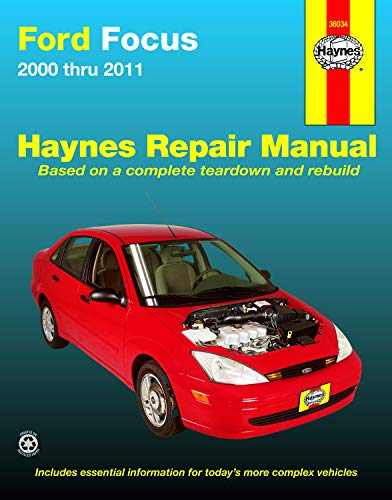 Ford Focus (00-11) Haynes Repair Manual (Does not include information specific to SVT or rear disc brake models. Includes thorough vehicle coverage apart from the specific exclusion noted)