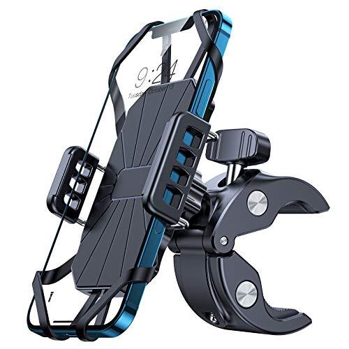 andobil Fahrrad Handyhalterung Motorrad [Extrem stabile & Anti-Shake] 360° Drehbar Handy Fahrradhalterung Kompatibel Handyhalter Fahrrad Zubehör für iPhone 12/11/11 Pro/ Samsung S10/ Huawei/xiaomi usw