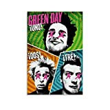 JHDSL Poster Green Day Punk Rocks Star Rapper Hip Hop