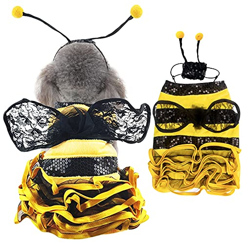 Dog Bee Costume Halloween Costumes for Dogs,...