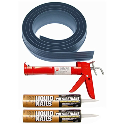 """Tsunami Seal 51016 Lifetime Garage Door Threshold Seal Kit - 16' 6"""", Gray (Various Sizes Available) -  Auto Care Products Inc."""