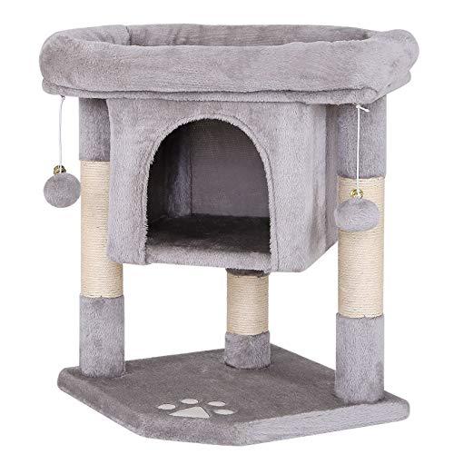 dibea Tiragraffi per gatto albero tiragraffi gatto gioco giocattolo gatti Altezza 60 cm Grigio chiaro