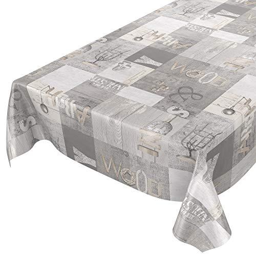 Mantel de hule, lavable, estilo industrial moderno, tamaño seleccionable, toalla, sättige, beständige Farben, 100 x 140cm ✅