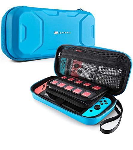 Mumba Aufbewahrungstasche für Nintendo Switch, Tragbare Switch Tasche Hülle, Travel Carry Doppelschutz Case mit Größerem Speicherplatz für Nintendo Switch