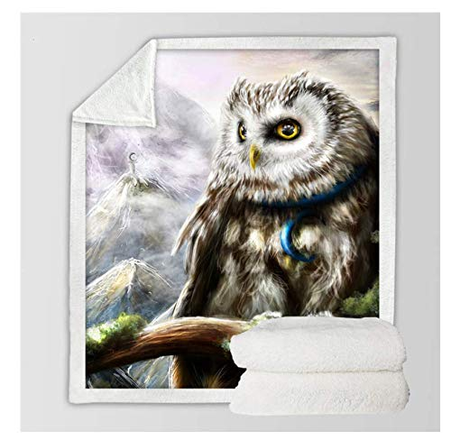 The Mountains Owl Printed Blanket Is Suitable For All People, Simple And Elegant, Bedding Travel Sofa, Soft And Smooth, Fun And Interesting150x200cm