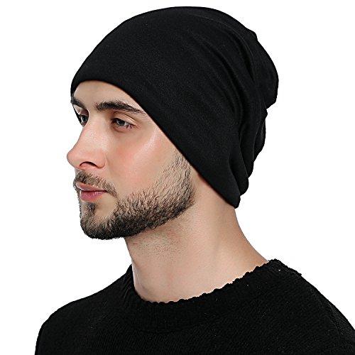 DonDon Atmungsaktive Mütze Beanie mit super soften Innenfutter Feinstrick schwarz