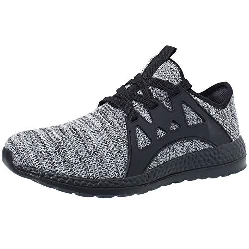 VVQI Laufschuhe Herren Damen Sneaker Sportschuhe Turnschuhe Mode Leichtgewichts Freizeit Atmungsaktive Fitness Schuhe 42 EU 004 4 Grau