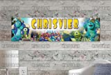 KATONAH Customized Name Painting Monster University Inc Movie Poster with Your Name On It Personalized Banner